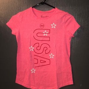 NEW Girls Under Armour Heatgear Loose Fit Tee Lg